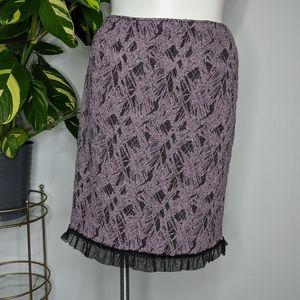 3/$15 Rickie Freeman black & purple skirt 14